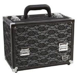 Caboodles Make Me Over Cosmetic Train Case Lace